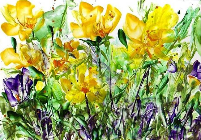 Art:  Daffodils by Artist Ulrike 'Ricky' Martin