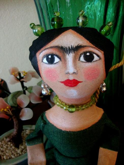 OOAK FRIDA STYLE DOLL IN GREEN WEDDING DRESS by Cyra R Cancel