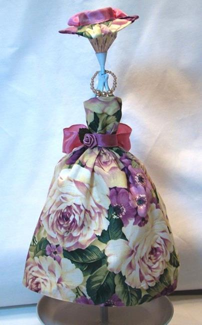 Art: Floral Party Dress Miniature by Artist Leea Baltes