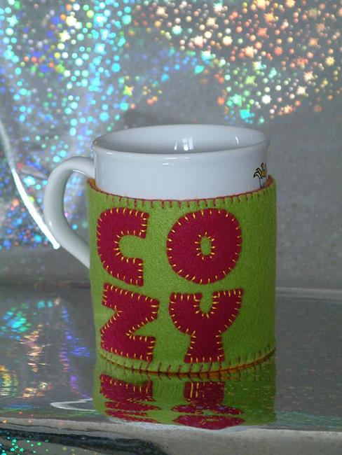 Art: 'Cozy' Mug Hug by Artist Jane Gould
