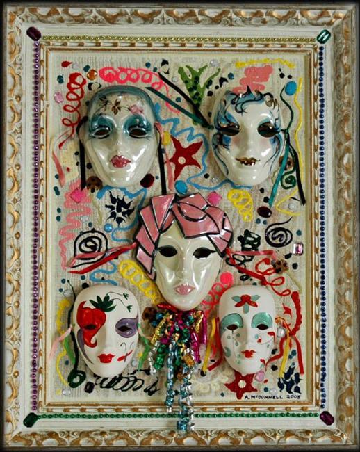 Art: Mardi Gras by Artist Andrew Myles McDonnell (Andy Myles)