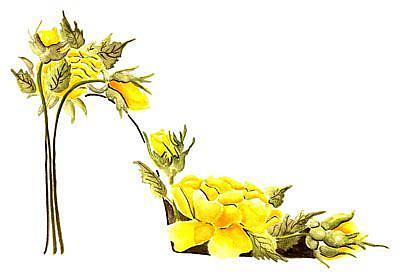 Art: Yellow Roses Stiletto by Artist Elena Feliciano