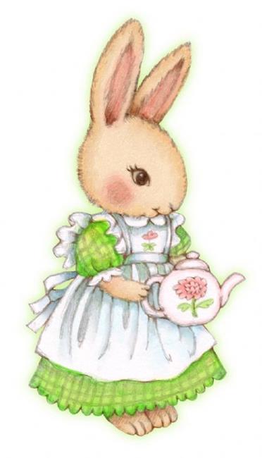 Art: Tea Bunny by Artist Carmen Medlin