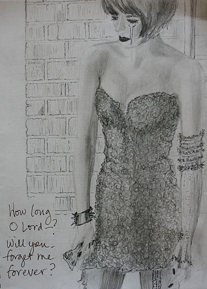 Art: How Long....? by Artist Victoria Sonstegard, PhD