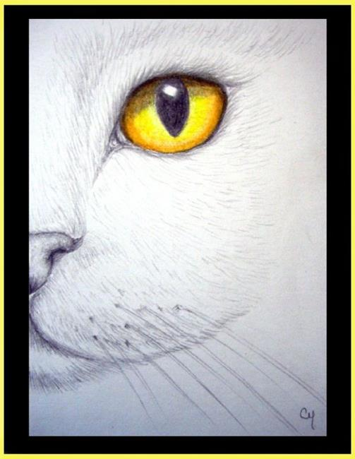 White Cat - Topaz Eye - by Cyra R. Cancel from Gallery