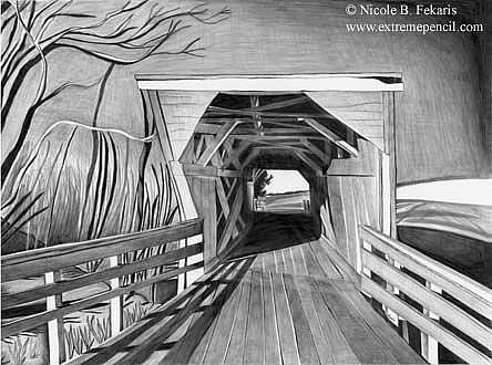 Art: Bridge Country by Artist Nicole Fekaris