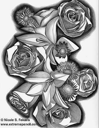 Art: Wedding Day Bouquet by Artist Nicole Fekaris