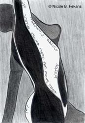 Art: Pouring by Artist Nicole B. Fekaris