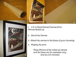 Detail Image for art Harry Potter Hogwarts First Year Original Painting Fantasy art Hagrid Pumpk
