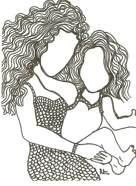 Art: Mother and Daughter Bond Forever by Artist Nata ArtistaDonna