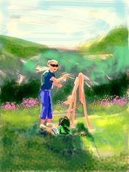 Art: Linda Plein Airs by Artist Erika Nelson