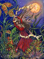 Art: Harvest Moon by Artist Patience