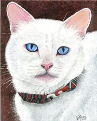 Art: Portrait of Ophelia Gillingham by Artist Leanne Wildermuth