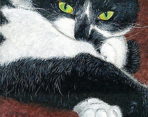Art: Portrait of Poopcat Gillingham by Artist Leanne Wildermuth