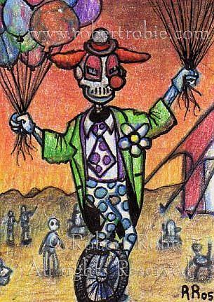 Art: Cyborg Clown by Artist Robert Thomas Robie