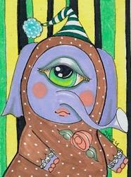 Art: My Freakishly Large Eye by Artist Sherry Key