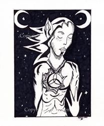 Art: Stargazer (Black & White) by Artist Misty Benson