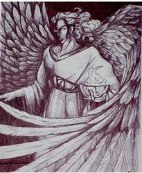 Art: Angel of Throneroom by Artist Natasha Wescoat