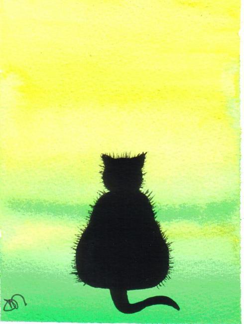 Art: BLACK CAT by Artist Dawn Barker