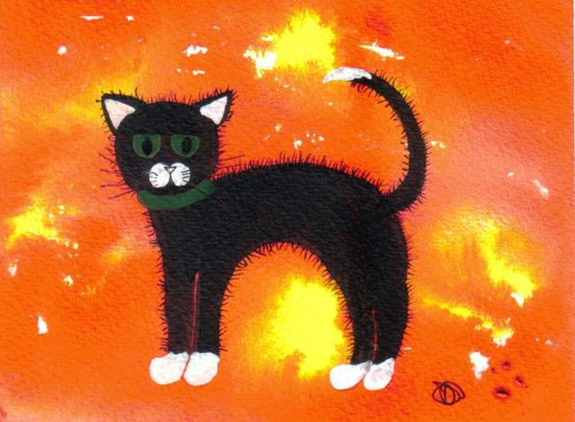 Art: BLACK CAT by Artist Dawn Barker