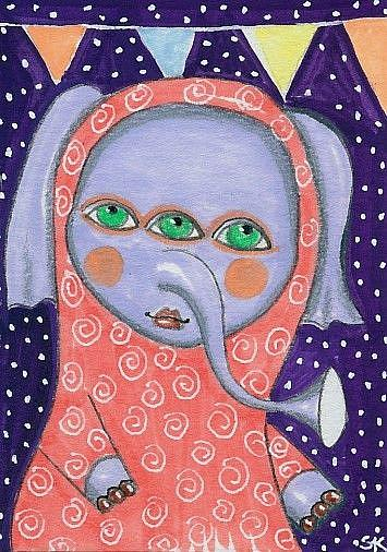 Art: Three Eyes-Sold by Artist Sherry Key
