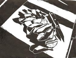 Art: Apple & Knife by Artist Aimee L. Dingman