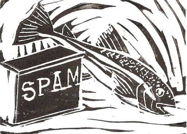 Art: Spam & Trout 2008 by Artist Aimee L. Dingman