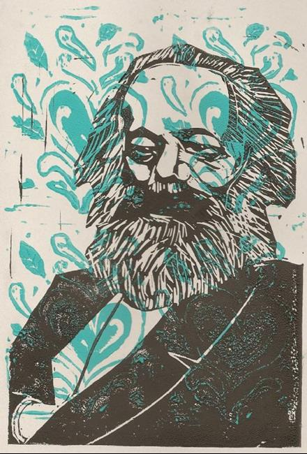 Art: Socially Acceptable Portrait of Karl Marx by Artist Aimee L. Dingman