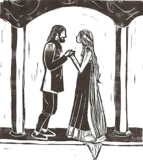 Art: Eowyn & Faramir by Artist Aimee L. Dingman