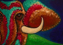Art: ELEPHANT CLOSE UP by Artist Cyra R. Cancel