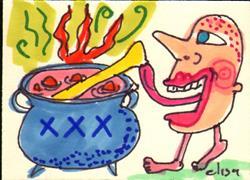 Art: Stirring The Pot by Artist Elisa Vegliante