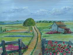 Art: Country Home by Artist Virginia Kilpatrick