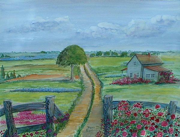Art: Country Home by Artist Virginia Kilpatrick