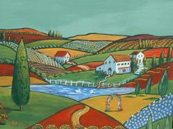 Art: Villa De Pays by Artist Virginia Kilpatrick