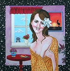 Art: Portrait of Lori Rase Hall by Artist Jen Thoman Thurston