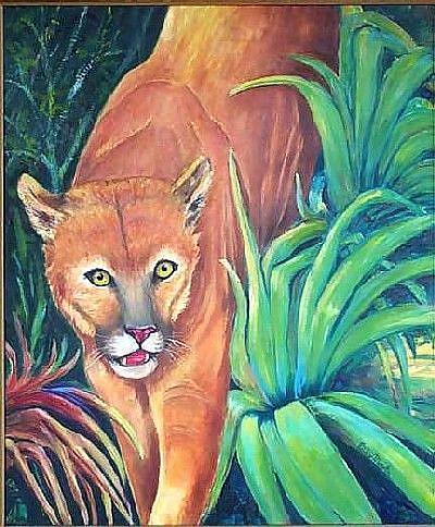 Florida Panther By Ulrike Ricky Martin From Flora Fauna Art Exhibit