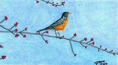 Art: First Sign of Spring by Artist Leanne Wildermuth