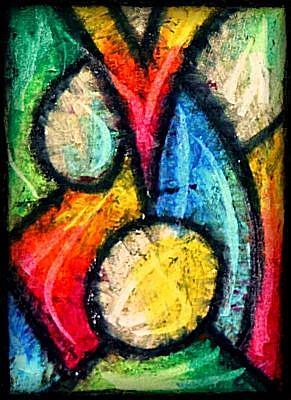 Art: Abstract ACEO 020 by Artist Amanda Hone