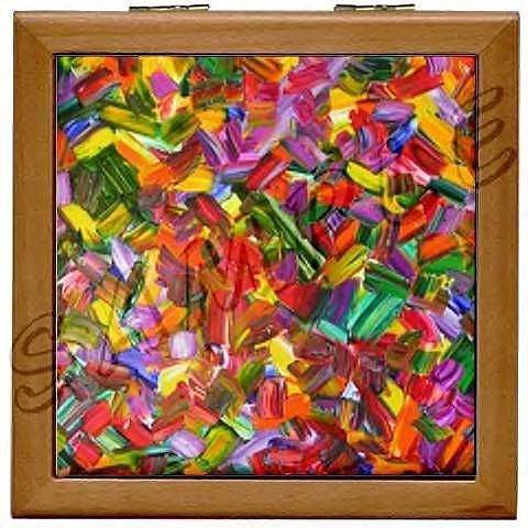 Art: SEDONA WOOD TILE JEWELRY BOX by Artist Dawn Hough Sebaugh