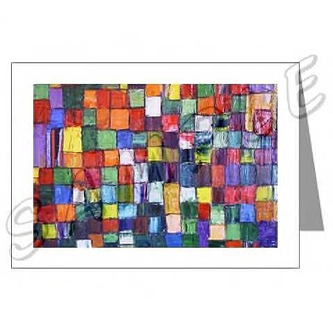 Art: ABSTRACT ART GREETING CARDS BRAZEN DAWN EBSQ wwao by Artist Dawn Hough Sebaugh
