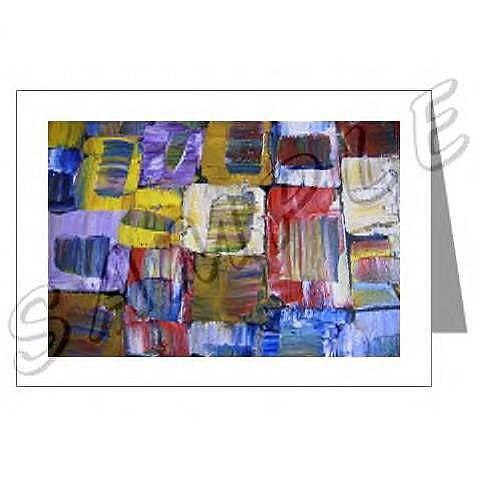 Art: ABSTRACT ART GREETING CARDS QUASAR DAWN EBSQ wwao by Artist Dawn Hough Sebaugh