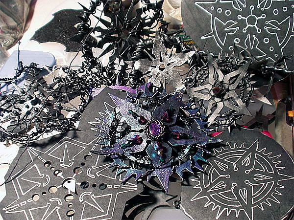 Art: various pentagrams by Artist Barbara Doherty (MidnightZodiac Leather)