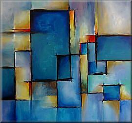 Art: aaa blue big by Artist Michael A Lang