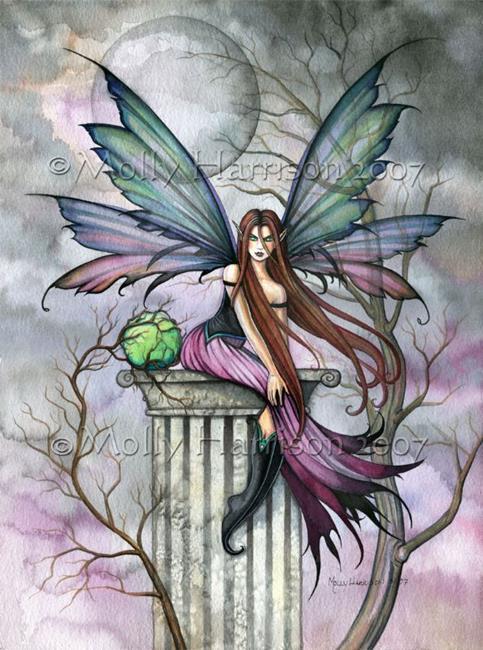 Art: Magical Green Sphere by Artist Molly Harrison