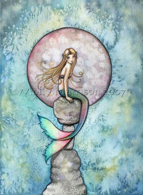 Art: Sinking Moon by Artist Molly Harrison