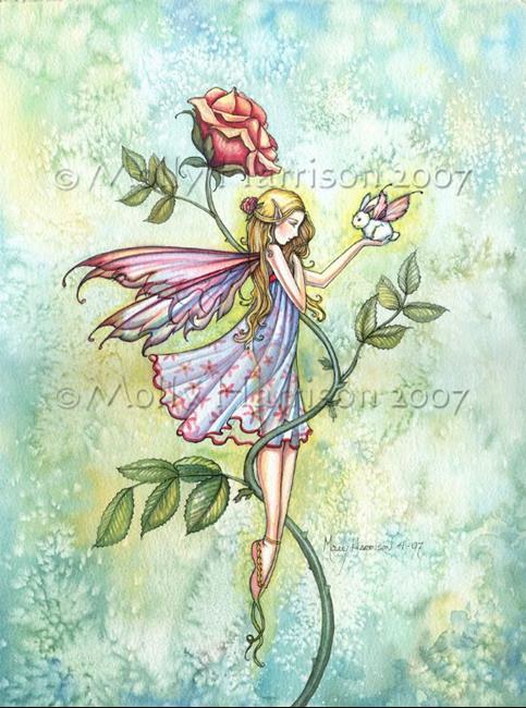 Art: Rose's Friend by Artist Molly Harrison