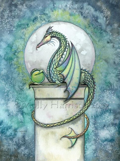 Art: The Green Dragon by Artist Molly Harrison