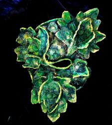 Art: Green Man Mask #1 by Artist Patience