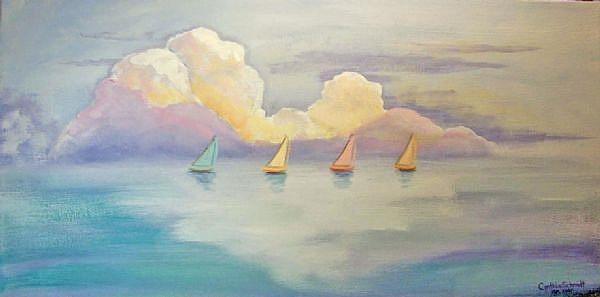 Art: Sailboats by Artist Cynthia Schmidt