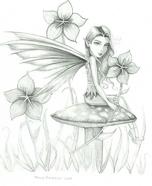Pencil Fairy full - by Molly Harrison from Gallery
